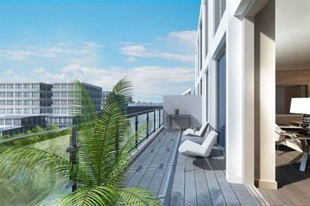 Exterior CGI image Balcony_with_building